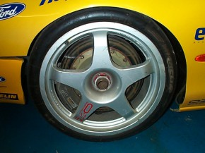 Ford Mondeo ST 97 Reynard wheel rain front in 99 Prodrive Rapid Fit livery
